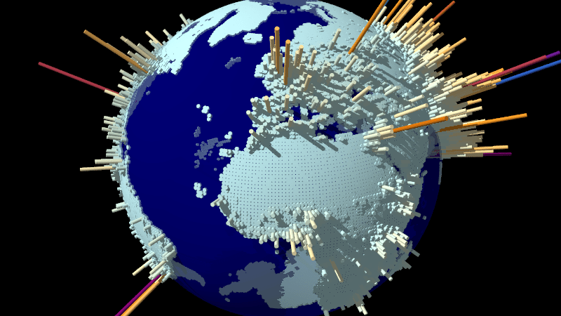 World population density Data from the G-Econ project |  Anders Sandberg | Flickr | CC BY 2.0