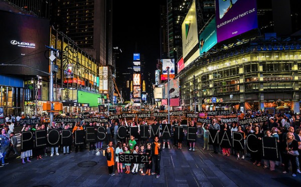 Photo of People's Climate March by NYC Light Brigade