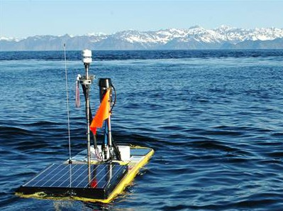Image of Carbon Wave Glider in Prince William Sound | Wiley Evans | NOAA's Cooperative Institute for Alaska Research at the University of Alaska Fairbank