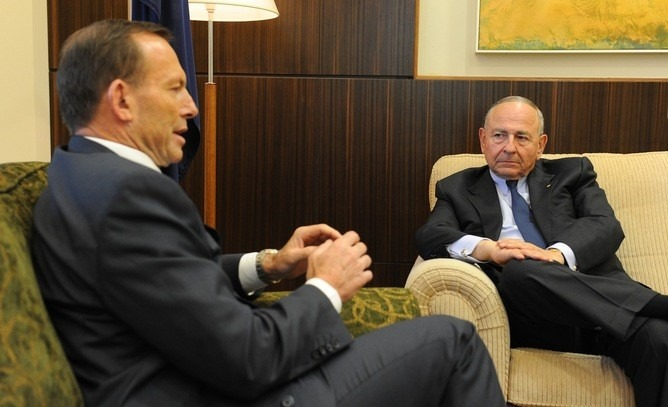 The prime minister's business adviser Maurice Newman continues to distract business leaders on the issue of climate change. Courtesy of Julian Smith | AAP