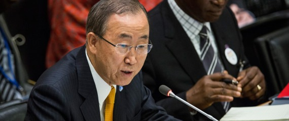 Photo of U.N. Secretary General Ban Ki Moon by Andrew Burton via Getty Images