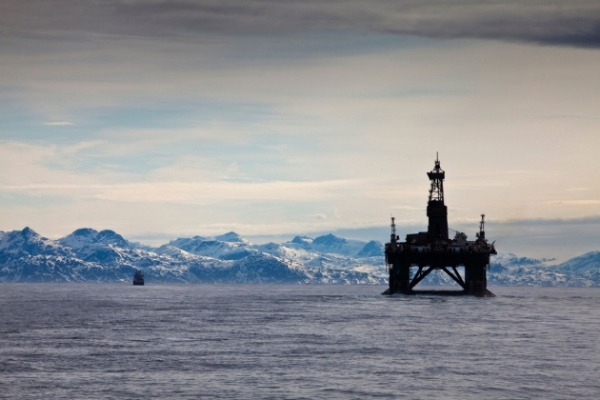 Norway's exploratory drilling rig the Leiv Eiriksson in the Davis Strait, by S.Morgan/Alamy via Nature