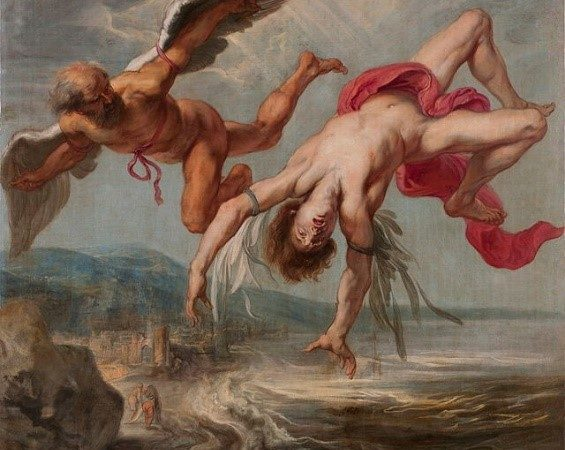 """Jacob Peter Gowy's """"The Flight of Icarus."""""""