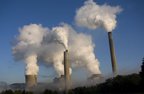 Photo of a coal plant by Robert Nickelsberg via Getty