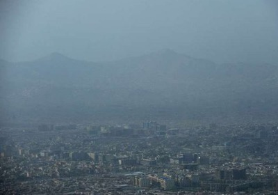 Air pollution above Kabul, Afghanistan