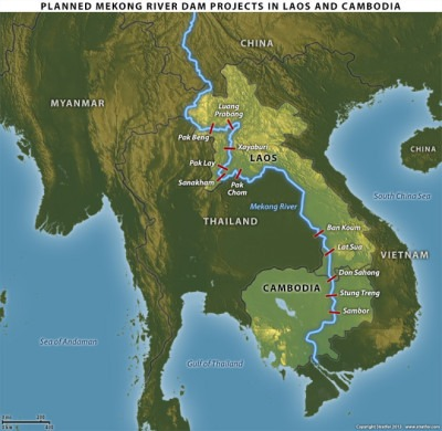MAP Mekong River – via http://www.stratfor.com