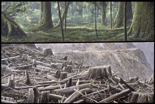 Robert BatemanCarmanah Contrasts |1989, Acrylic on Canvas, 40x45  ©Robert BatemanIncluded inEnvironmental Impact