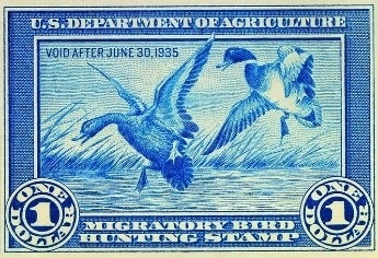 "First U.S. Migratory Bird Hunting Stamp | 1934 | Jay N. ""Ding"" Darling"