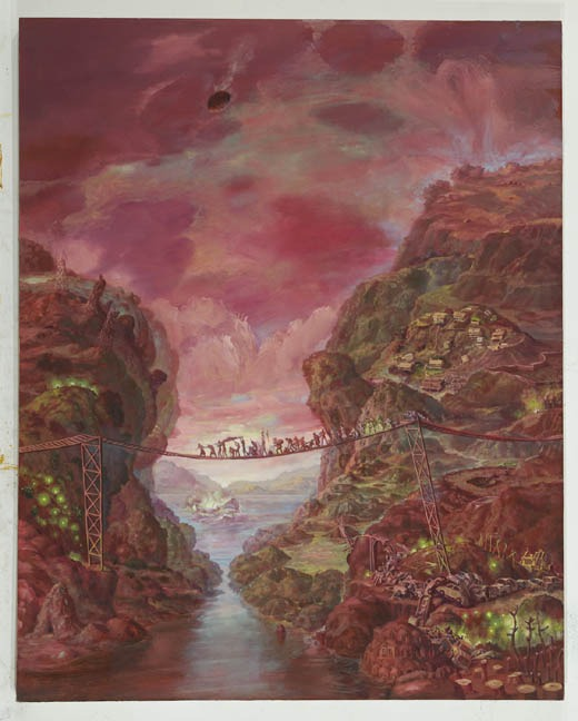Pink Landslide by Julie Heffernan 2012
