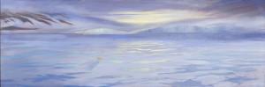 LuciadeLeirisThe Greenland Sea (Arctic)2011, Oil on canvas, 24 x 72©Lucia deLeiris | Currently on display in Environmental Impact