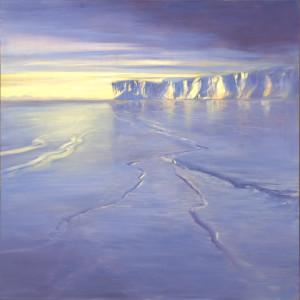 LuciadeLeirisThe Ross Sea(Antarctica)2008, Oil on canvas, 48 x 48©Lucia deLeiris | Currently on display in Environmental Impact