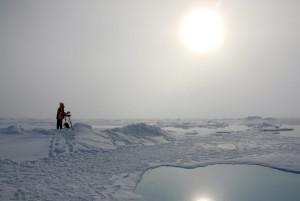 deLeiris painting in the Arctic landscape