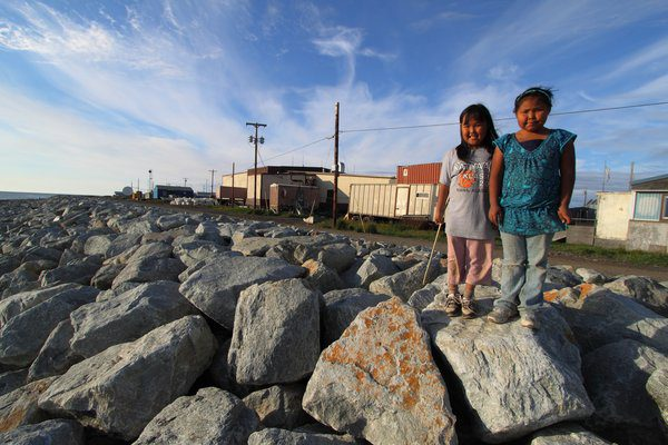 In the Alaska Native community of Kivalina, reduced sea ice leaves the coast open to fiercefall storms leading to rapid erosion. This community, like many others being forced to consider relocation, is facing tough decisions along with political and financial hurdles. Kivalina Seawall by Bretwood Higman & Erin McKittrick via Ground Truth TrekkingCC BY-NC 3.0