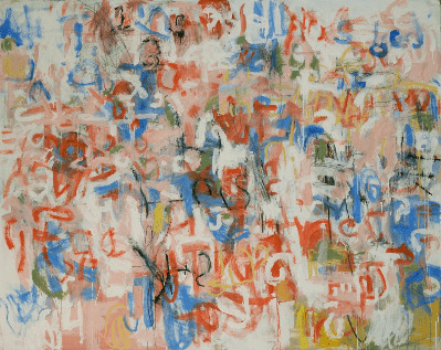 Abstract: Ron Kingswood, Pick Pocket, 2013, Oil & Graphite on Canvas, 84x104