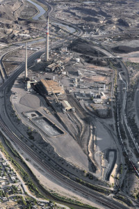 Martin Stupich ASARCO El Paso Copper Smelter in Early Stage of Demolition (Aerial view from over Ciudad Juárez looking northwest) 2011, Pigment Inkjet on Acid Free Fine Art Photo Paper, 32x23 inches © Martin Stupich, Currently on display in Environmental Impact