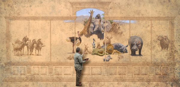 Brian Jarvi with An African Menagerie in progress © Brian Jarvi