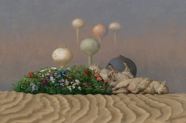 ScottGreeneOasis, 2010, Oil on canvas on panel, 20x30 inches,Collection of the Artist; Catharine Clark Gallery, San Francisco.© Scott Greene, Previously on display in Environmental Impact
