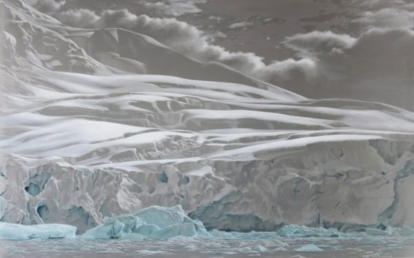 Lisa Lebofsky Petzval Glacier, 2011, oil paint on aluminum, 40x64 inches, © Lisa Lebofsky Included in Environmental Impact
