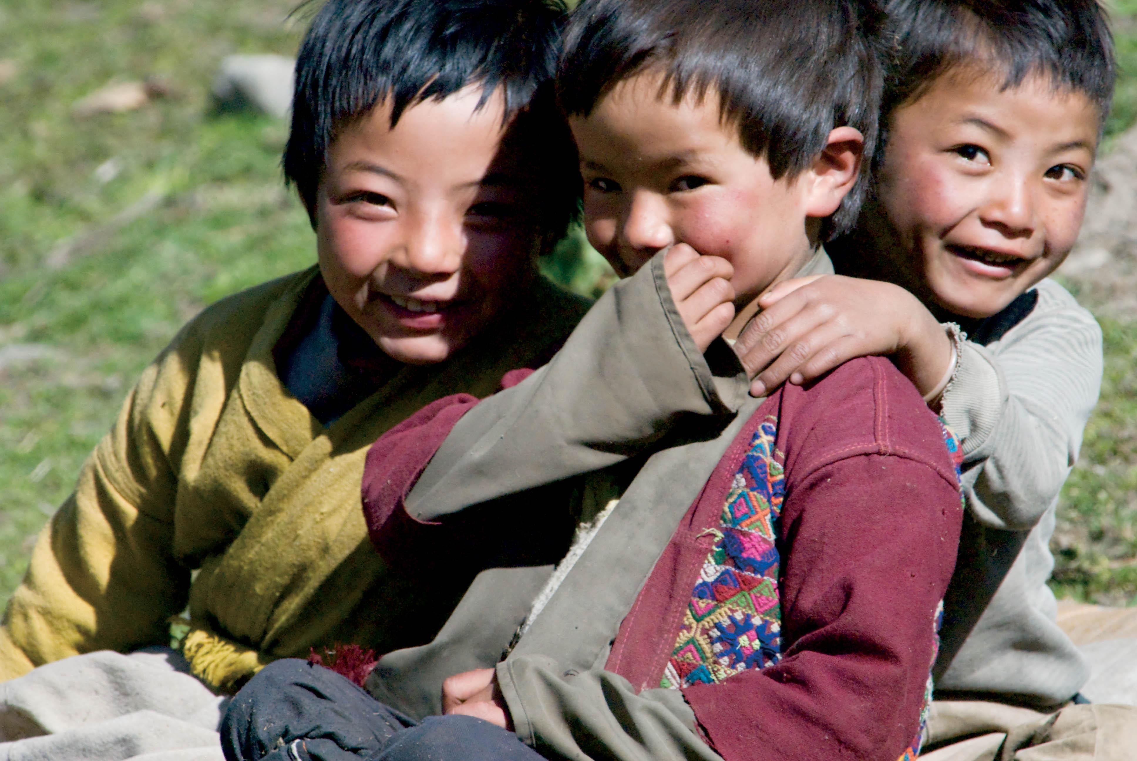 Brokpa Children, Eastern Bhutan, © M.C. Tobias