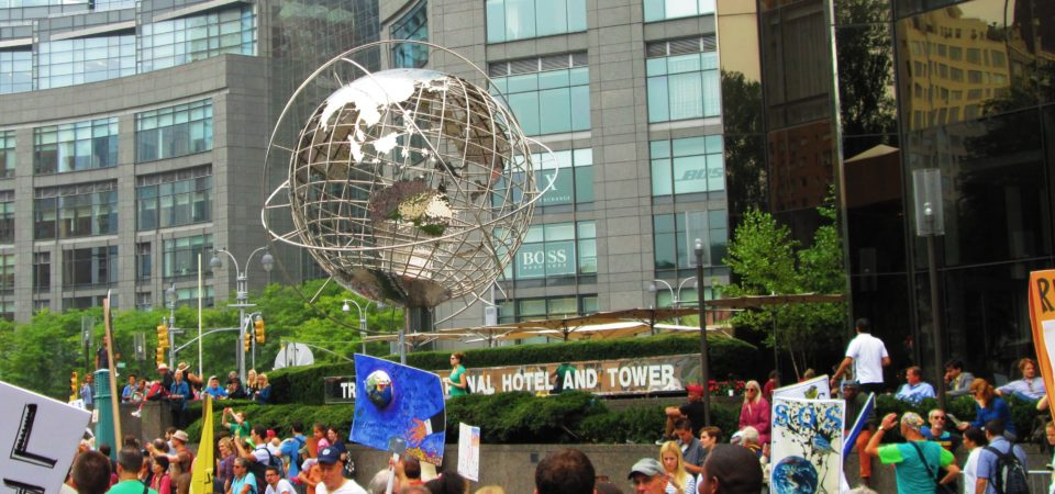 People's Climate March at the Trump International Hotel and Tower, New York City by Beyond My Ken Wikimedia | CC BY-SA 4.0