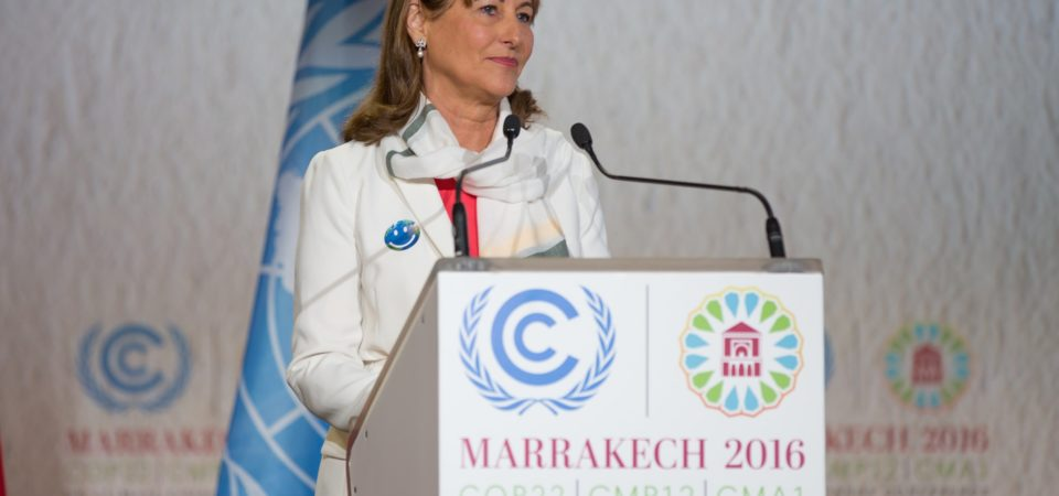 COP 21/ CMP 11 President H.E. Ségoléne Royal addresses the Opening Ceremony of the Marrakech Climate Change Conference  by UNFCCC | Flickr | CC BY 2.0