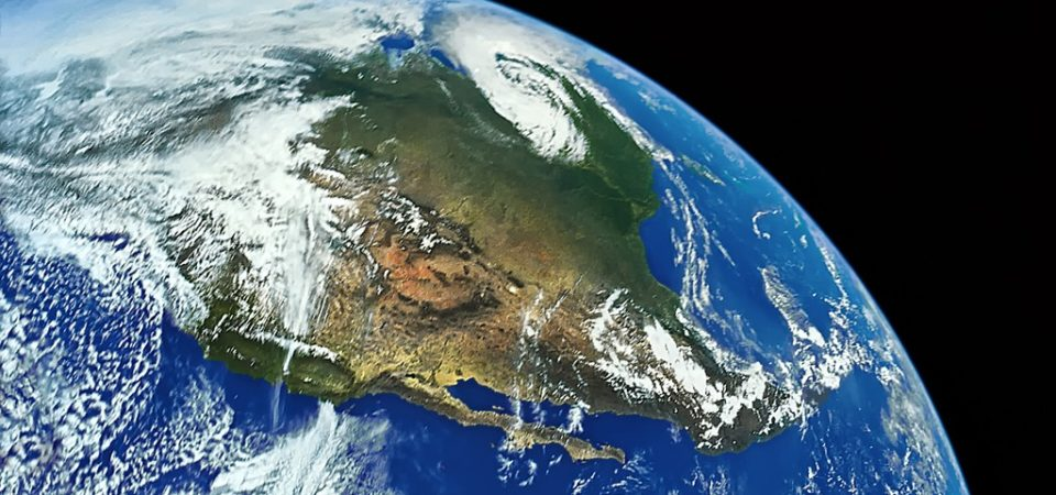 Earth and North America from Space - digitally restored by Royce Bair | Flickr | CC BY-NC-ND 2.0