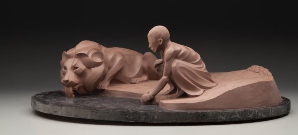 Rosetta Ancient Truce (Original clay for bronze casting) © Rosetta