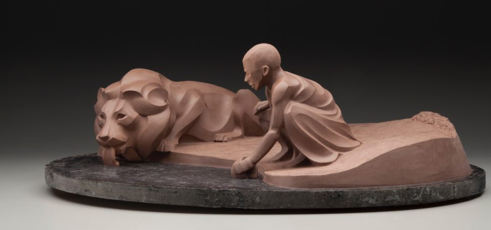 Rosetta Ancient Truce (Original clay for bronze casting) © Rosetta