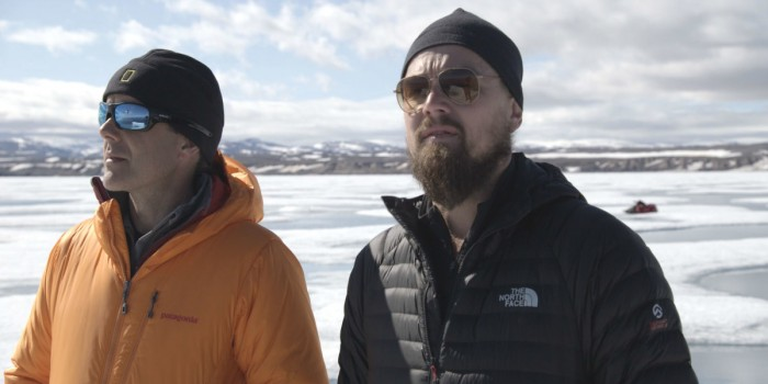 Leonardo DiCaprio and Dr. Enric Sala in a still from'Before the Flood'   YouTube   National Geographic Channel