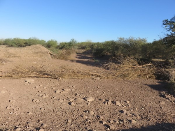 Dry Yaqui Riverbed outside Cocorit, Mexico. By Basia Irland