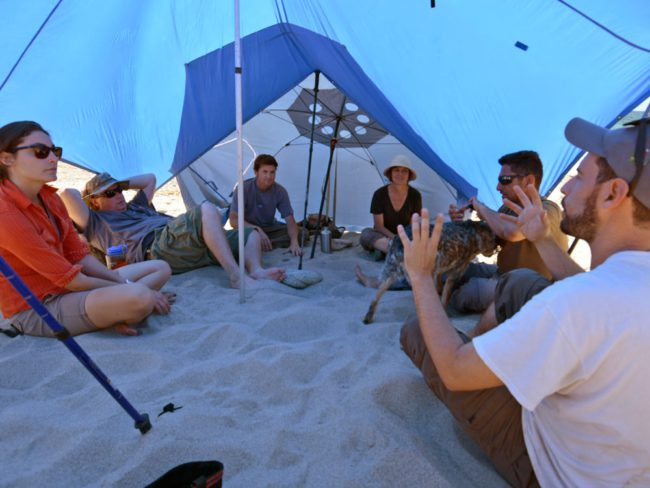 Participants meeting at Punto Cirio   Image by Charles Hedgcock