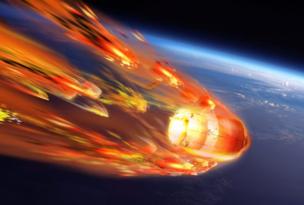 Artist's view of ATV-5 reentry | © ESA–D. Ducros, 2014
