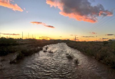 The Rillito River, a tributary of the Santa Cruz River near Tucson, Arizona   Image by Michael Bogan