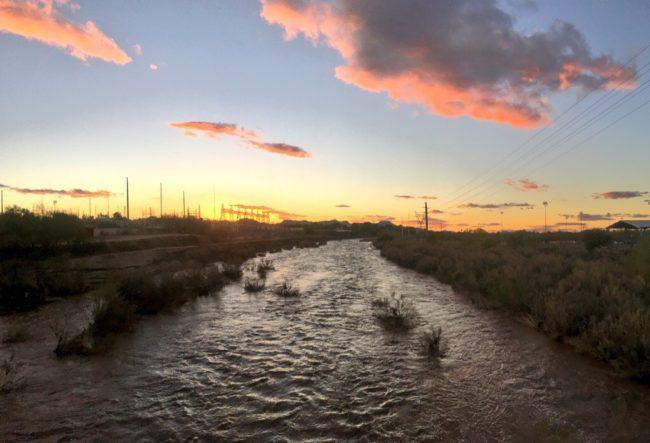 The Rillito River, a tributary of the Santa Cruz River near Tucson, Arizona | Image by Michael Bogan