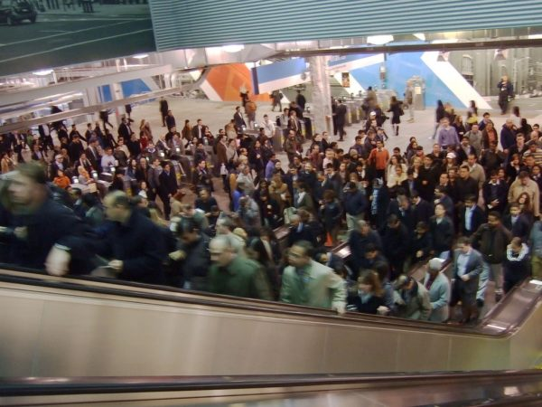 Path Station Escalators at Rush Hour by Dan DeLuca | Flickr | CC BY 2.0