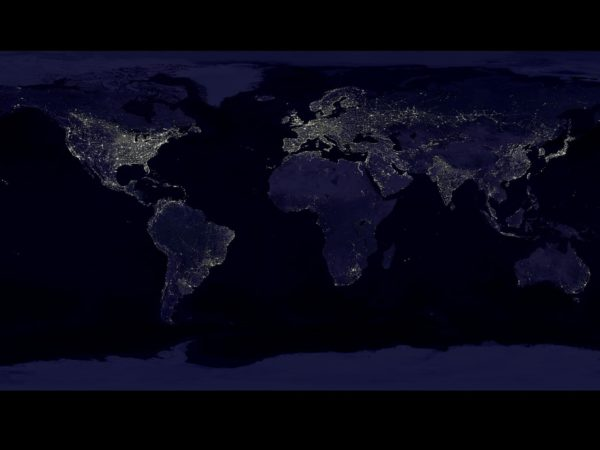 A composite view of Earth at night | NASA/NOAA