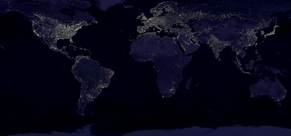 A composite view of Earth at night   NASA/NOAA
