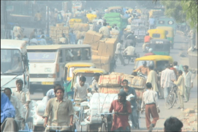 Traffic in Downtown New Delhi | Photo © M. C. Tobias