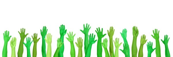 Green Environmental Conscious Hands Raised © Rawpixelimages   Licensed to The Law Project