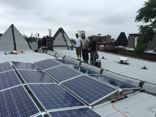 Solar panel installation atop Serentiy House