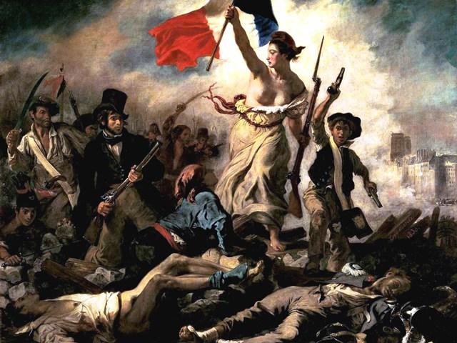 <em>Liberty Leading the People</em> by Eugène Delacroix (1830)