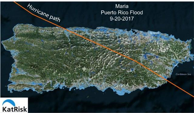 Path of Hurricane Maria, 2017