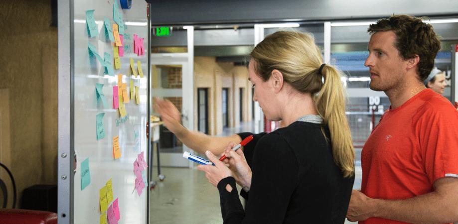 Participants explore consumption in America at the Stanford Design School   Image by Nico Sandi
