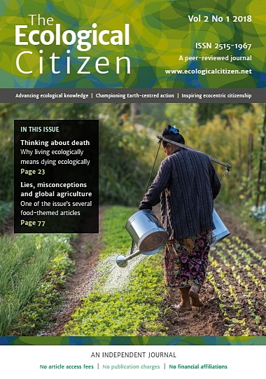 Cover of The Ecological Citizen, Volume 2, Issue 1 published July 2018
