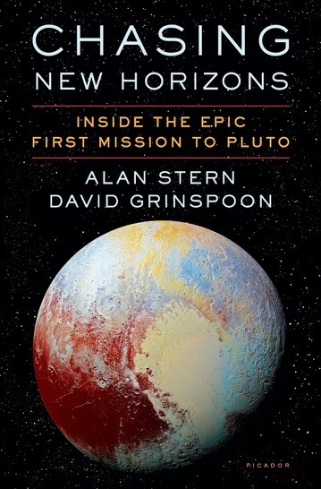 The book cover for Chasing New Horizons