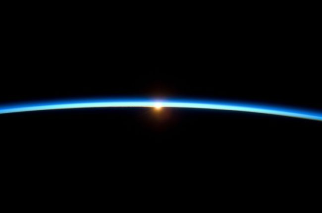 Image of the thin blue line of earth's atmosphere