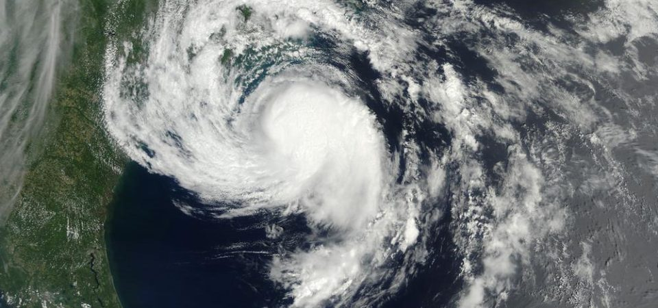 Satellite picture of a tropical storm