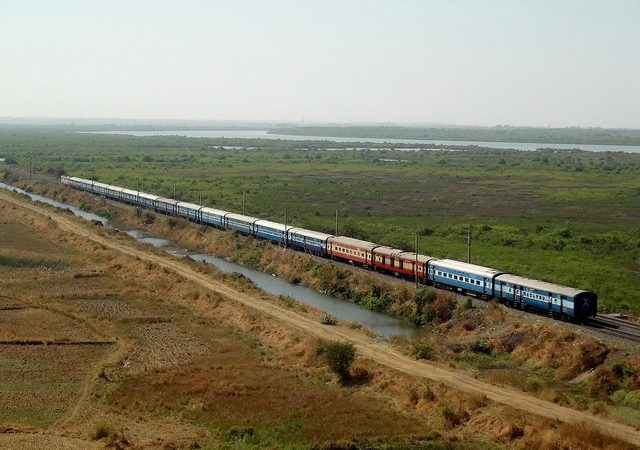 train crossing open plains