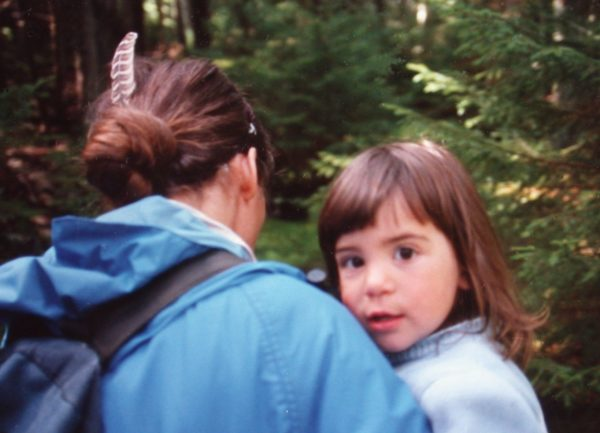 The author and the one child she chose to have, 30 years ago. Concern about overpopulation was a factor in her choice.
