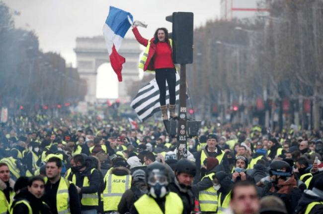Figure 1. Yellow Vest street protests near the Arc de Triomphe, Paris (abc.net.au, 2018).